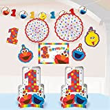 sesame street supplies - 1st Birthday Elmo Room Decorating Kit 10 piece Party Supplies Elmo Sesame Street Fun to be One!