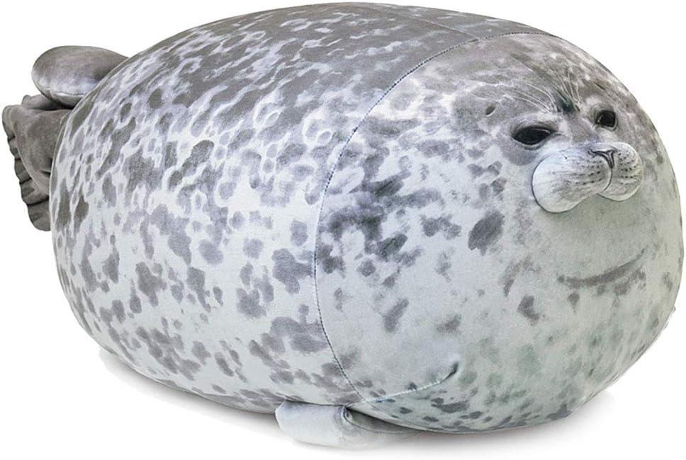 YOZATIA Chubby Blob Seal Pillow, Giant Stuffed Animals Hugging Pillow, Anime Plushies Cute Pillows Large(23.6 in)