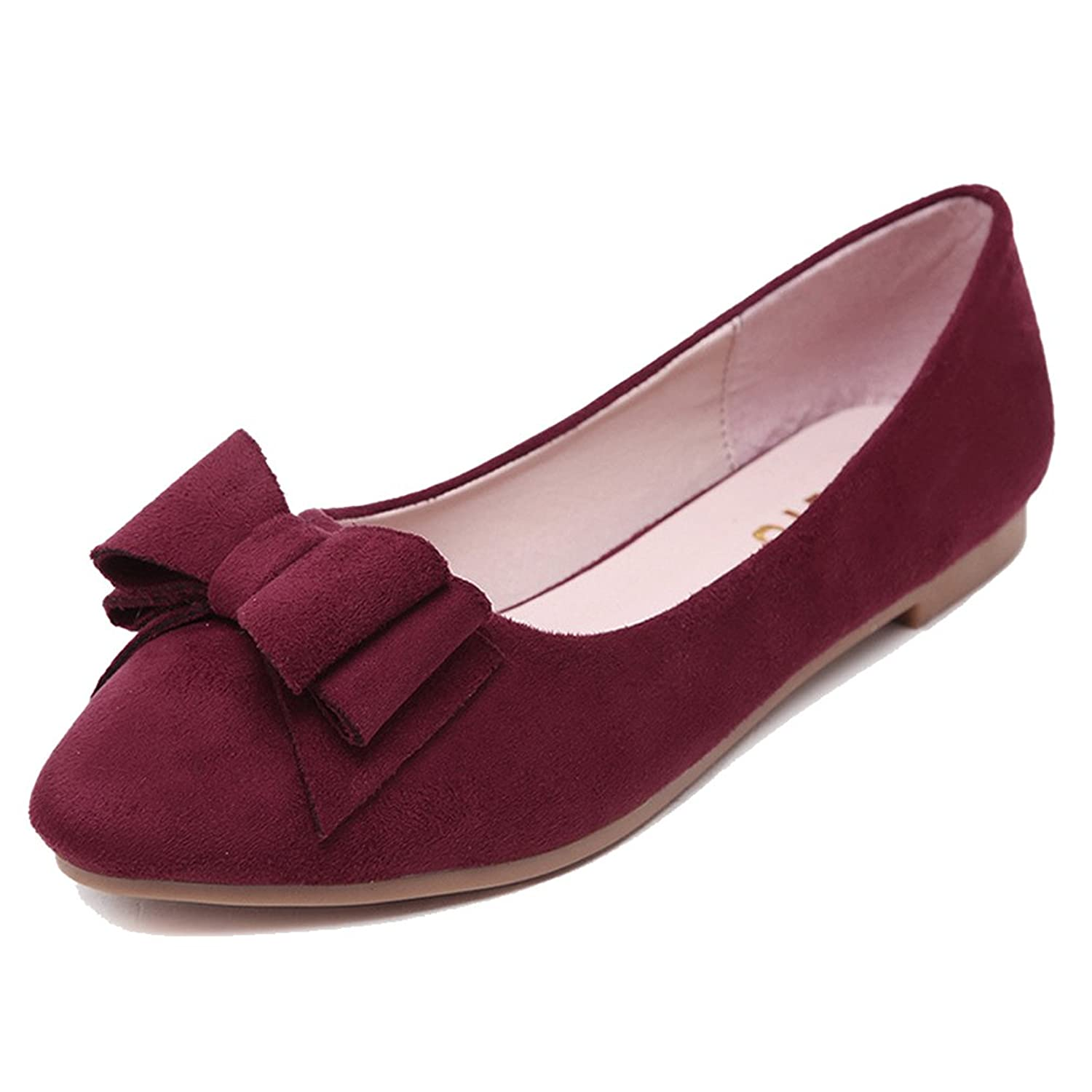 Fonshare Women's Sueded Loafers Pregnant Oxford Slip On Ankle Flats