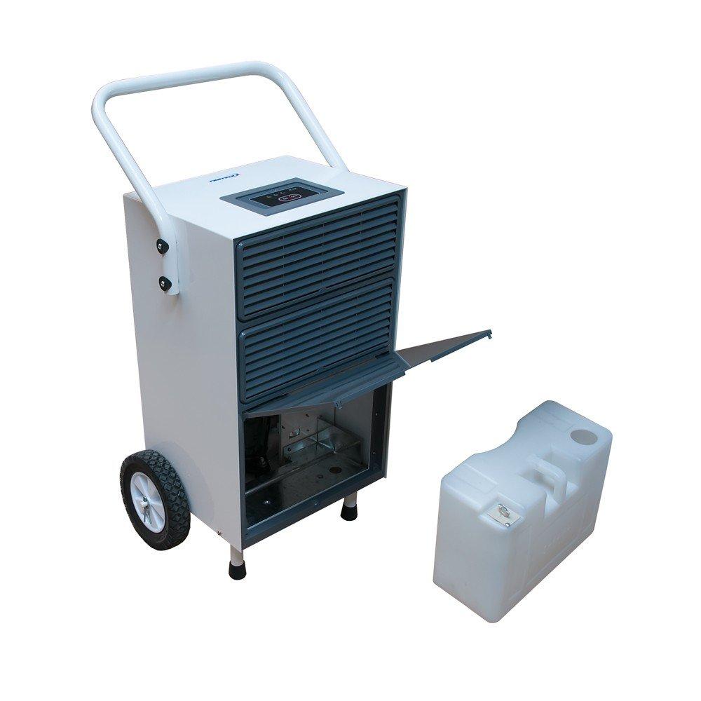 Silencioso día (50 db) secadora por condensación deshumidificador secador para paredes húmedas/para drenaje de reducidos (max, 55l/día) con pantalla con: ...