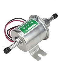 Bomba de combustible eléctrica universal, 24V Bomba de combustible eléctrica para barco de coche Filtro en línea Gasolina Diesel Reemplazo Bomba de combustible para automóvil(Astilla)