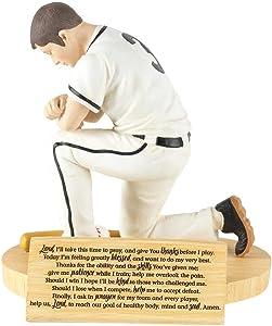 Dicksons Hear Our Prayer Kneeling Baseball Player 5 x 5.5 Resin Stone Tabletop Figurine