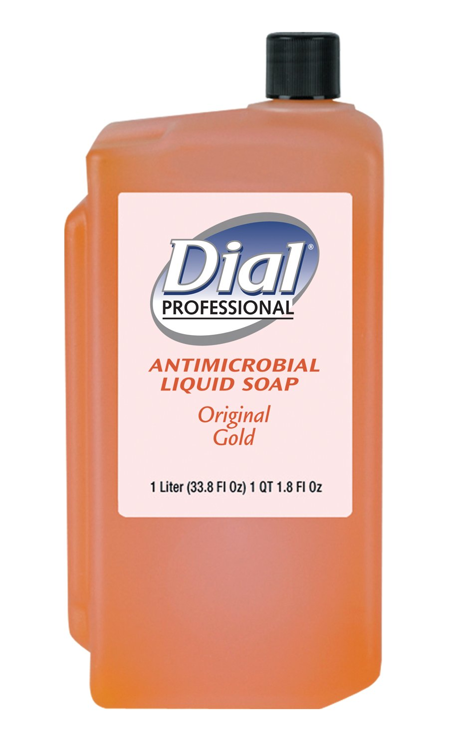 Dial Professional 84019 Gold Antimicrobial Liquid Hand Soap, Floral, 1000mL Refill (Case of 8)