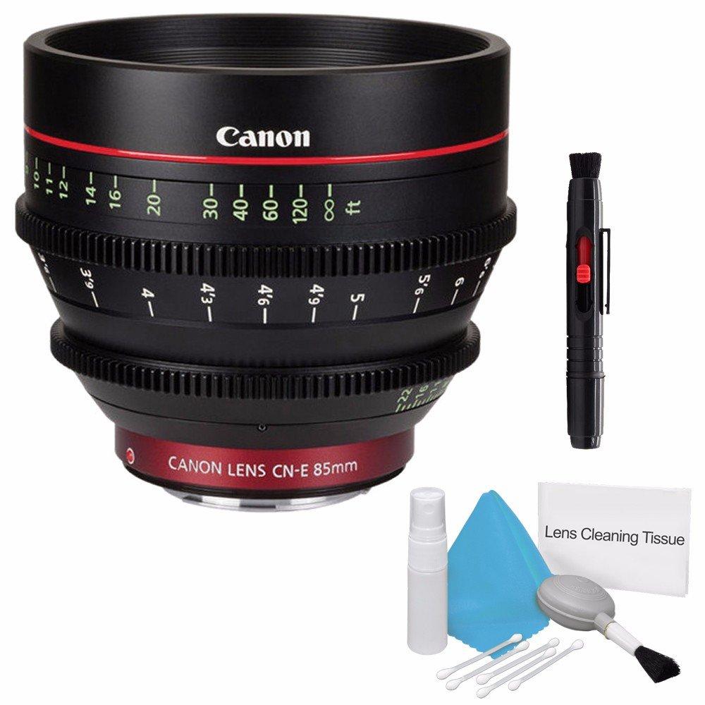 Canon cn-e 85 mm t1.3 L F Cineレンズ(インターナショナルモデル保証なし) +デラックスクリーニングキット6 Aveバンドル3   B01CDIMQG2
