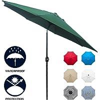 Deals on Sunnyglade 9-ft Patio Umbrella Outdoor Table Umbrella