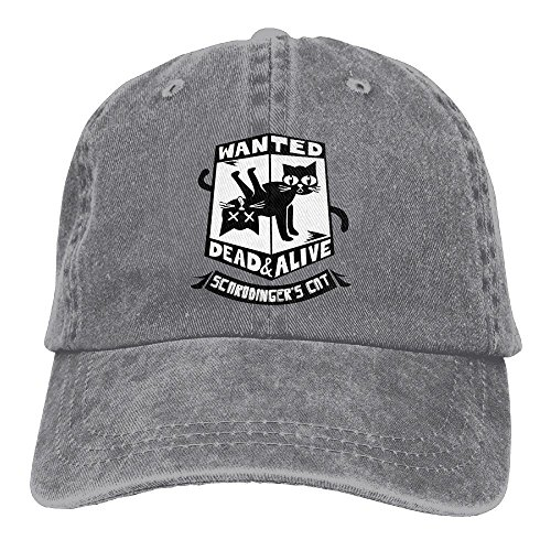 Baseball Cap Cat Is Dead And Alive - Adjustable Trucker Hat Cotton Denim, DanLive Cat Is Dead And Alive