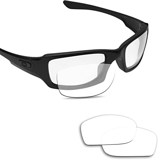 e0543cb56e Image Unavailable. Image not available for. Color  Fiskr Replacement Lenses  for Oakley Fives Squared Transparent