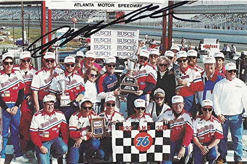 National Series Race (AUTOGRAPHED 1992 Jeff Gordon #1 Baby Ruth ATLANTA 300 RACE WIN (First BGN Victory) Busch Grand National Series Vintage Signed Collectible NASCAR 4X6 Inch Hero Card Photo with COA (#07,956 of 20,000))