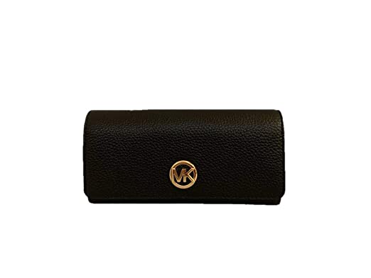 3283fd513711a2 Michael Kors Fulton Flap Continental Carryall Clutch Wallet Purse in Black