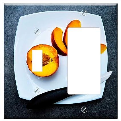 1 Toggle 1 Rocker Gfci Combination Wall Plate Cover Peach Snack