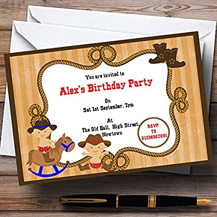 amazon com western cowboy theme personalized birthday party