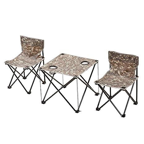 Alppq Camping y Utilidad Mesa plegable Juego de mesa y silla ...