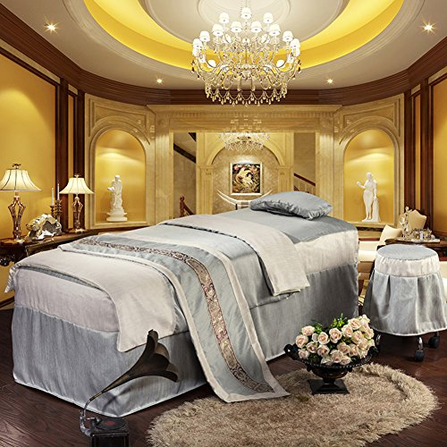 Beauty bedspreads massage linens cotton beauty salon health bed sheets-gray 190x70cm(75x28inch) from Beauty bed linen