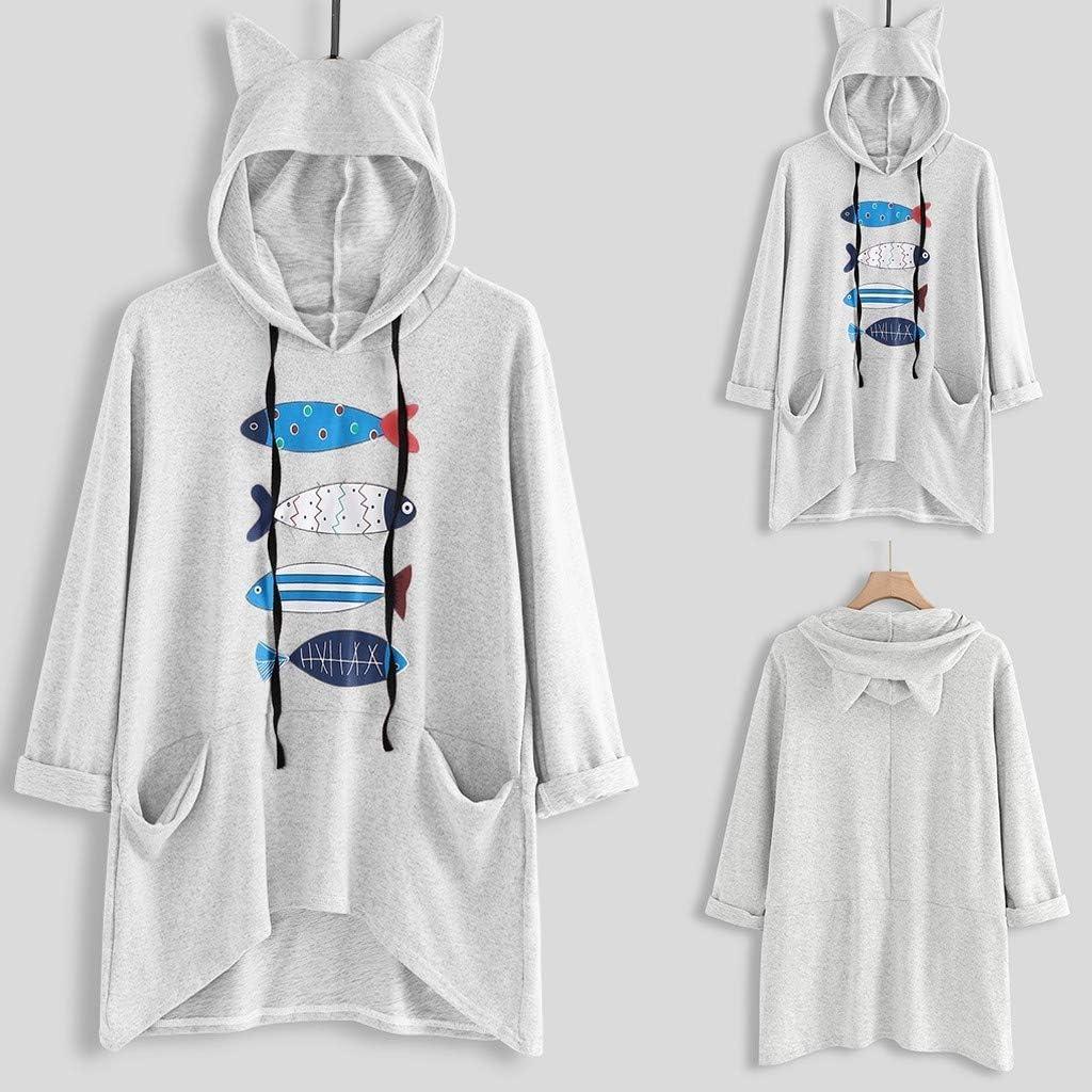 Amazon.com: Xinantime - Sudadera con capucha para mujer ...