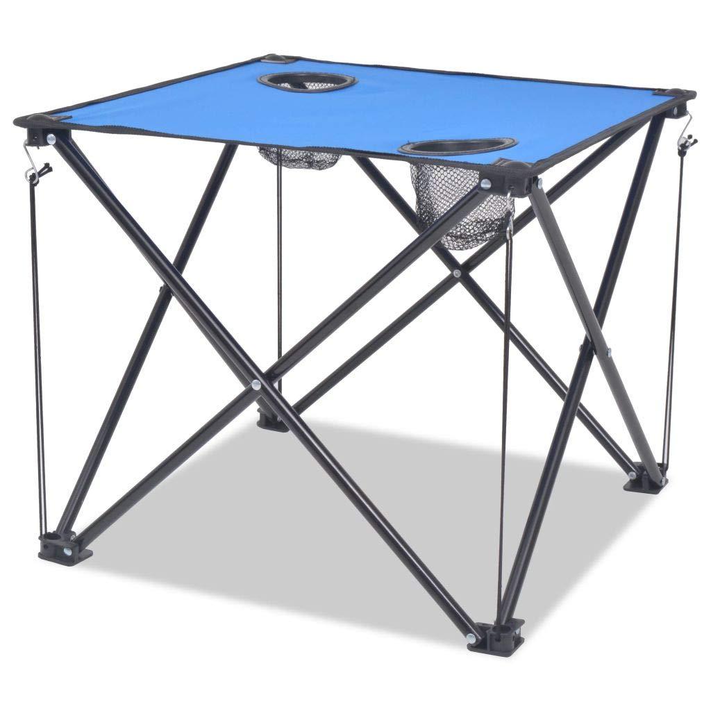 Xingshuoonline Campingstuhl Campingmöbel-Set 5-TLG. Klappbar Blau Stahl Faltstuhl Angelstuhl 45 x 45 x 70 cm