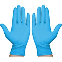 Coolty 100 stuks Wegwerp Handschoenen, nitril PVC Handschoenen, zonder latex poeder, Wegwerp werkhandschoenen voor het…