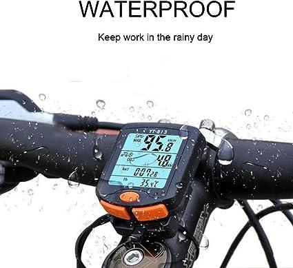 Sel-More Ordenador de Bicicleta inalámbrico, velocímetro ...
