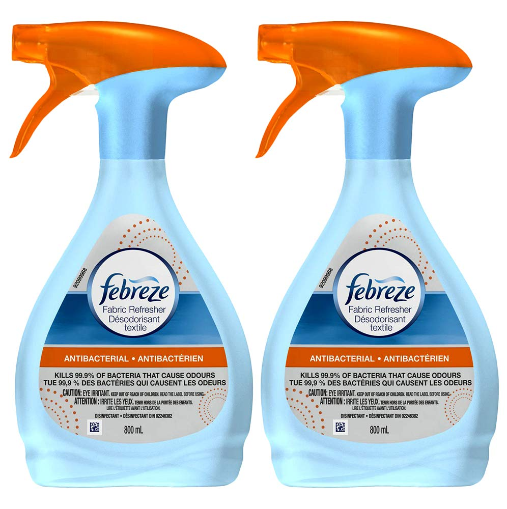 Febreze Fabric Refresher Antibacterial / Antimicrobial 27 fl. oz. / 800 ml (Twin Pack)