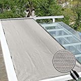 Alion Home Lock-Stitch Knitted 200 GSM 90% UV/Sun Block Shade Cloth For Patio, Awing, Pergola Cover - Smoke Grey (10 ft x 25 ft)