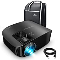 "VANKYO Leisure 510 Projector with 3600 LUX,Full HD Video Projector with 200"" Projection Size, Support 1080P HDMI VGA AV USB with Free HDMI Cable and Carrying Bag (1-Black)"