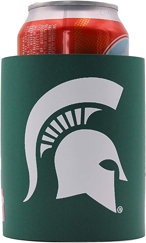 """Michigan State Spartans Thick Foam /""""Old School/"""" Grip It Can Coolie"""