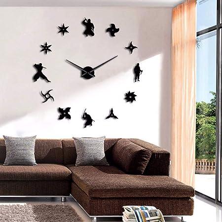 shuyinju Japon Ninja DIY Reloj De Pared Gigante Combatientes ...