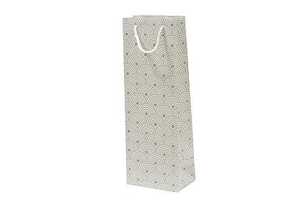 Set de 12 bolsas de regalo decoradas para botellas (blanco ...
