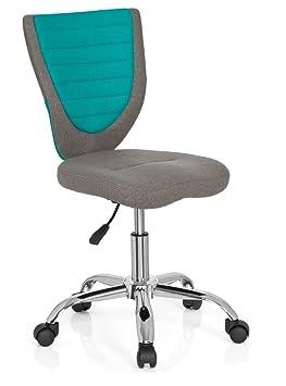 Hjh OFFICE 670630 Chaise De Bureau Enfant Pour KIDDY COMFORT Gris