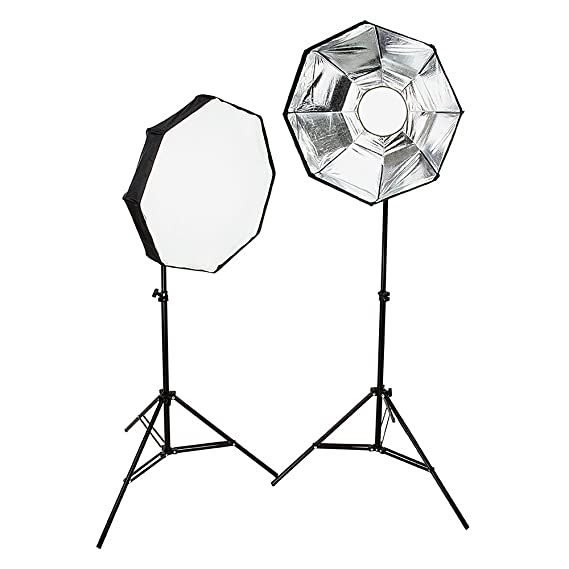 amazon fotodiox 2 light led photo and video softbox continuous Two-Way Light Switch Wiring Diagram amazon fotodiox 2 light led photo and video softbox continuous dimmable lighting kit lv460 24 inch octagon removable softbox and diffusers