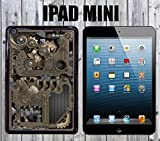 Steampunk Mechanical Gears Custom made Case/Cover/skin FOR iPad Mini-Black- Plastic Snap On Case (Ship From CA)