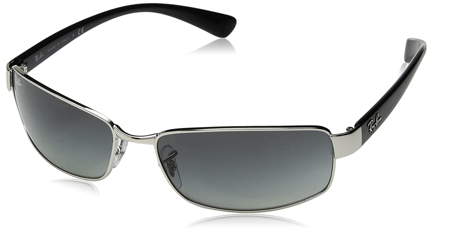 9e22379739 Amazon.com  Ray Ban Rb3364 Silver Frame Grey Gradient Lens Metal  Sunglasses