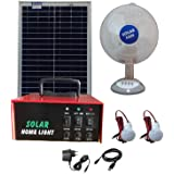 Belifal Solar Home Lighting System With 20Watts Solar Panel & 7Ah Battery Box (DC Table Fan & DC Bulbs )
