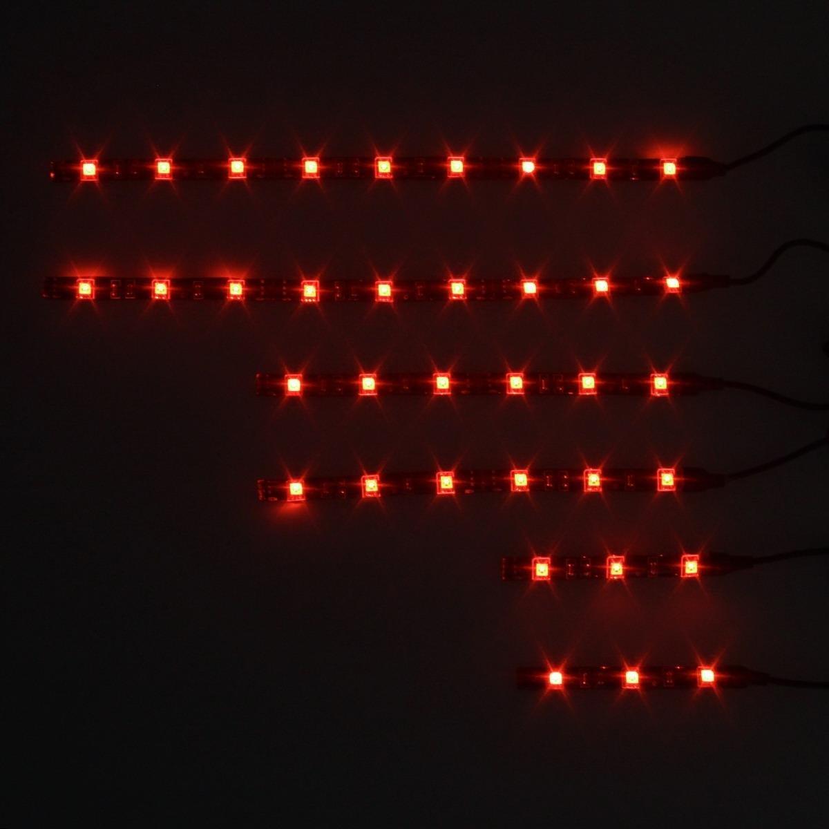 Partsam 6PC Million-Color LED UnderBody NEON Light Strip Kit Motorcycle Chaning Light
