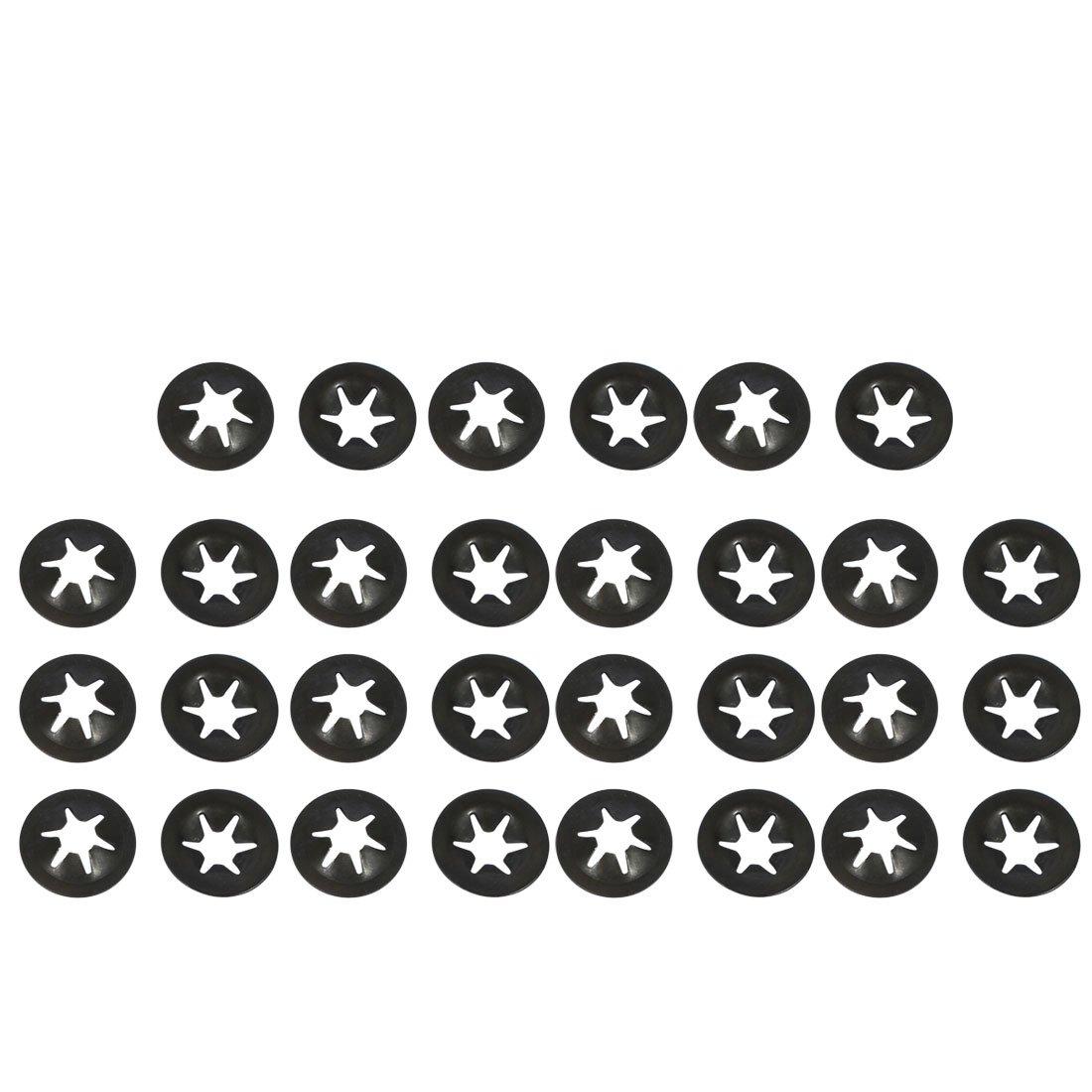 sourcing map 30 St/ück 4mm x 12mm Innenzahn Starlock Zahnscheiben Sicherungsscheiben de
