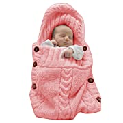 XMWEALTHY Infants Baby Blankets Cute Newborn Baby Girls Swaddle Blankets Toddler Boys Blankets Newborn Gifts Light Pink