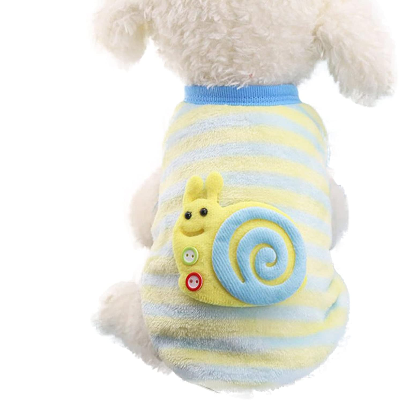 ❀AMUSTER ❀Cute Puppy Vêtements Pull chien chien Petite chemise de chiot Doux Manteaux de chat pour animaux de compagnie 2XS-2XL