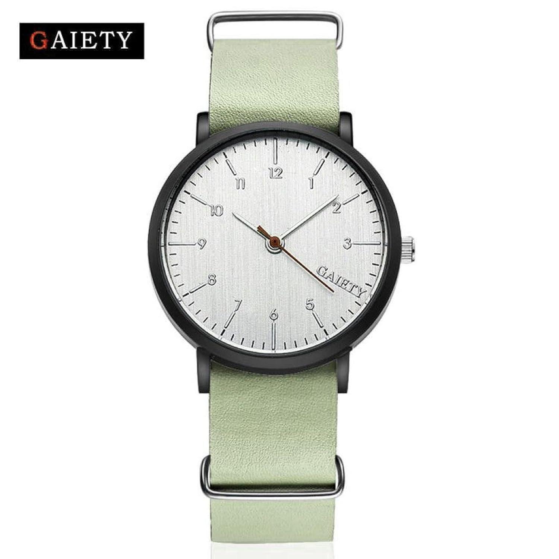 メンズ時計、Sinmaエレガントレトロ腕時計レザーアナログクォーツ腕時計 B0713S8G6H ブラック