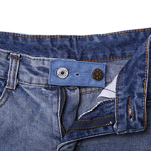 Denim Waist Extender Button for Jeans and Skirt Comfy Metal Buttons 4 pcs Assorted Colors