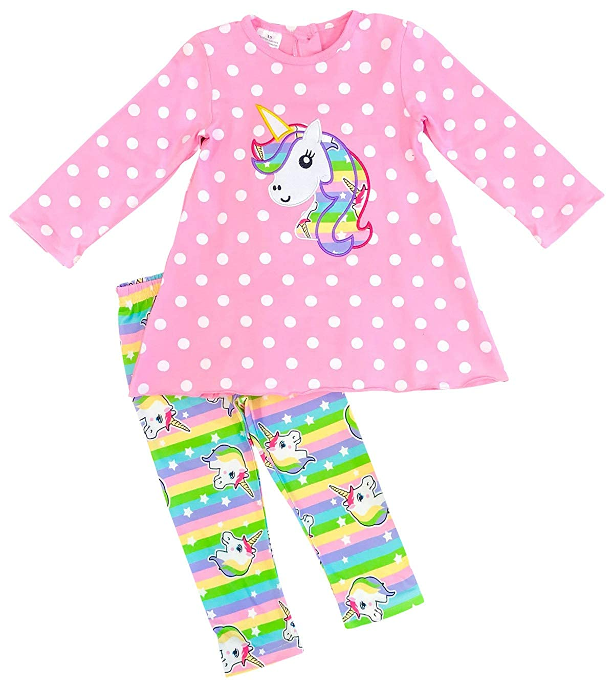 Little Girls 2 Pieces Top Pant Set Christmas Holiday Party Birthday Pant Outfit