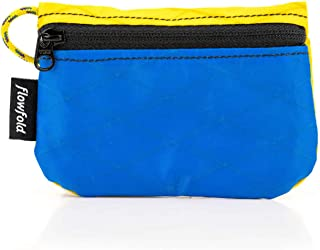 product image for Flowfold RFID Blocking Women's Coin Pouch Tiny Card Pouch, Zip Case (Blue)