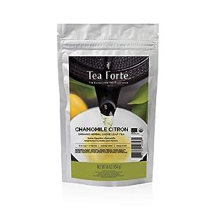 Tea Forte Chamomile Citron Loose Bulk Tea, 1 Pound Pouch, Organic Herbal Tea Makes 160-170 Cups