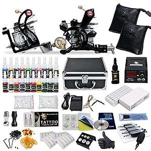 Complete Tattoo Starter Kit 2 Guns Supply Set Equipment D10-24