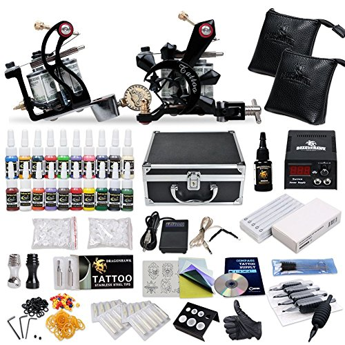 Price comparison product image Complete Tattoo Starter Kit 2 Guns Supply Set Equipment D10-24