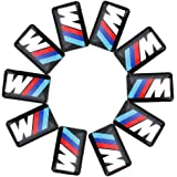 10X For BMW M Tec Sport Wheel Dashboard Badge M5 M6 3D Emblem Sticker Decal Logo
