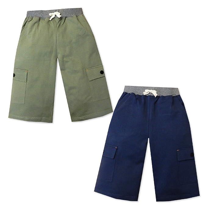 6057df4bf13e5 (ネイビー 160cm) 子供服 男の子 ボトム ハーフ カーゴ パンツ 裏毛素材 サイド