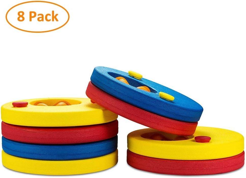 SKYSPER 8pcs Manguitos de natación para niños,Flotador Bebe Piscina Discos Flotantes,con certificación del Producto, Seguridad