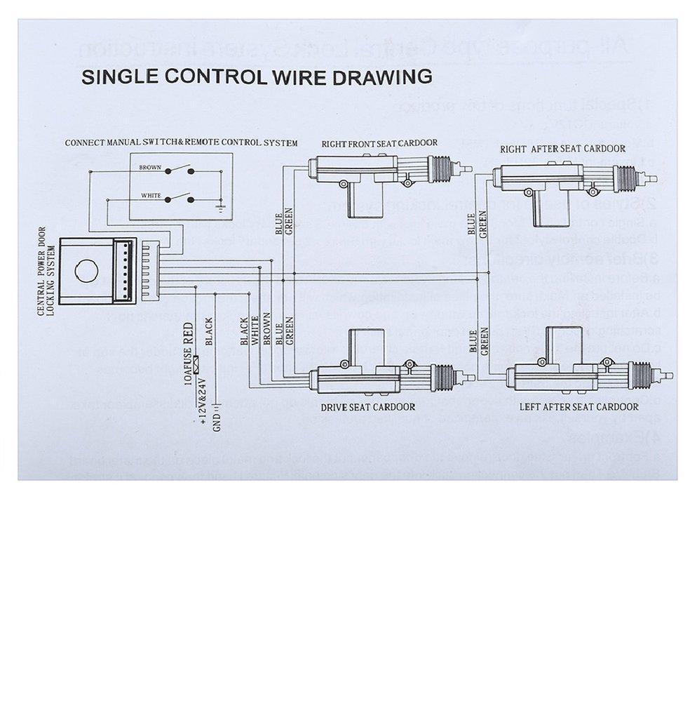 Universal Car Keyless Central Lock System 360 Degree Locking Kit Wiring Diagram Rotation Remote Alarm Security 4 Door Bracket Entry Electronics
