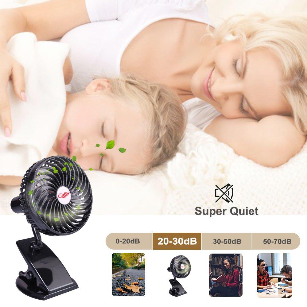Rasse Mini Ventilador port/átil USB Ventilador de Escritorio con bater/ía Recargable Ventilador de refrigeraci/ón Personal
