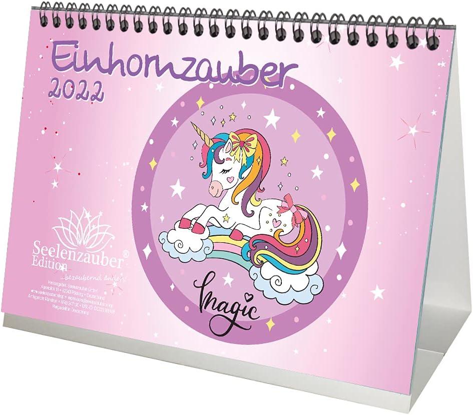 Einhorn Tischkalender 2022 A5