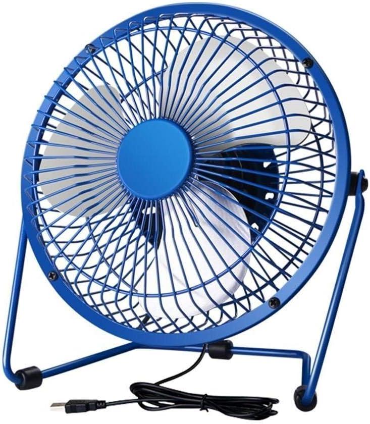 Color : Pink, Size : 1818cm Mini Fan 6inch GAOFENG USB Metal Mute 6 Large Wind Power Student Dormitory Big Wind Office Desktop Fan 6inch